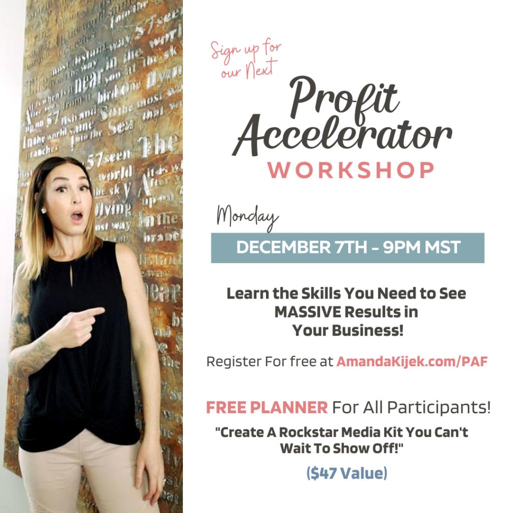 Profit Accelerator Workshop - Amanda Kijek - The Profitable Mompreneur